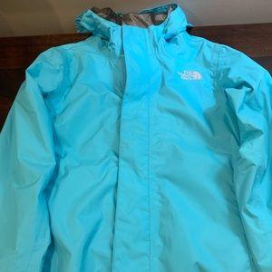 Girls Small North Face Rain Jacket w/hood